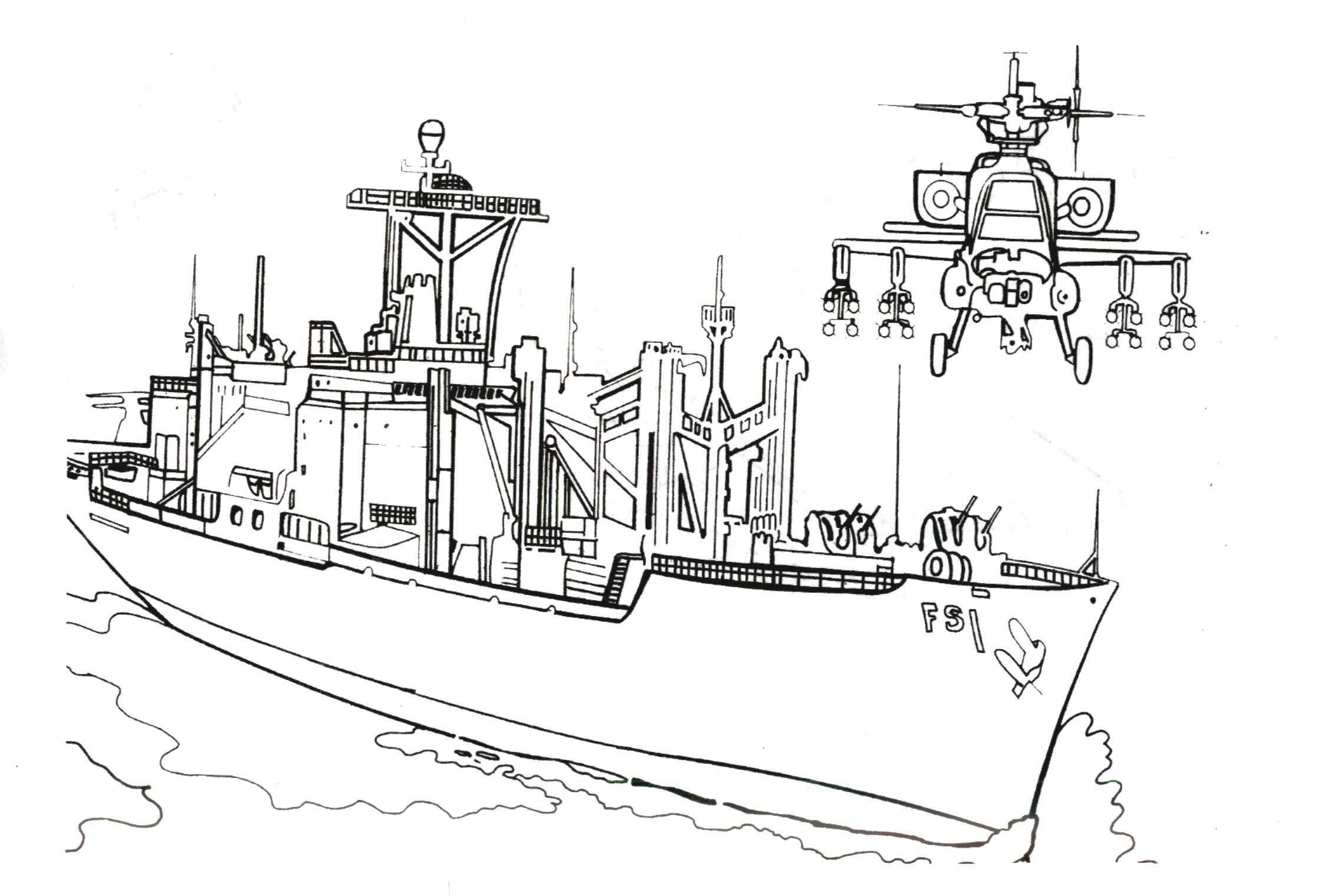 Раскраски для мальчиков корабли - 1