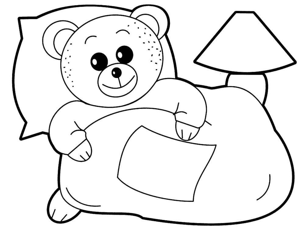 Раскраска медведя и лисы