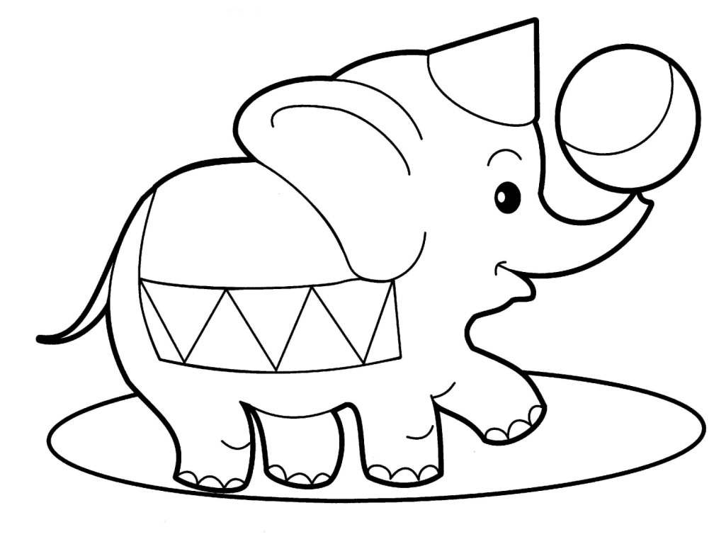 Раскраски для детей 4 года животные