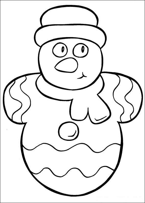 Раскраска для малышей новый год - 9