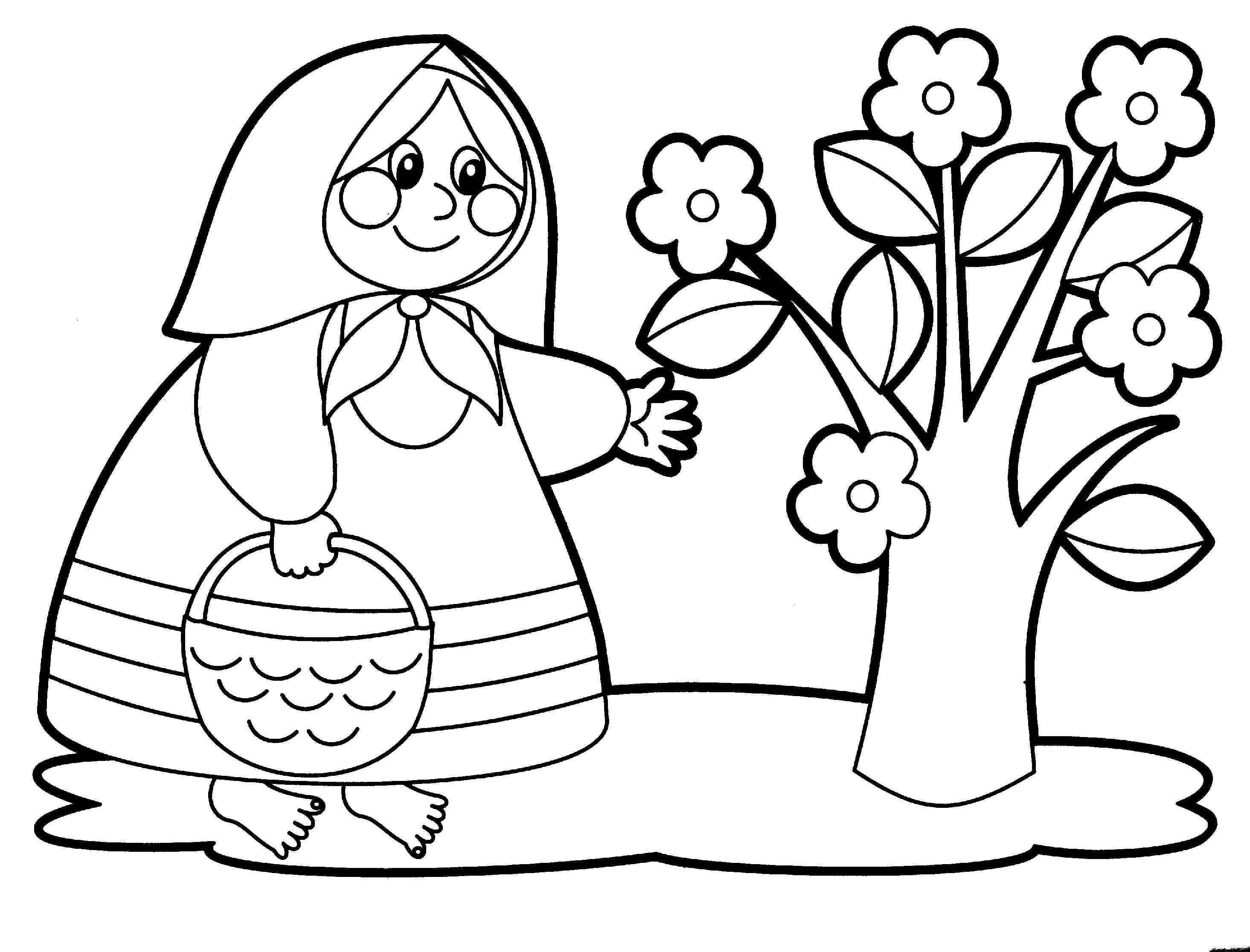 Раскраски для девочек 3-4 лет скачать бесплатно