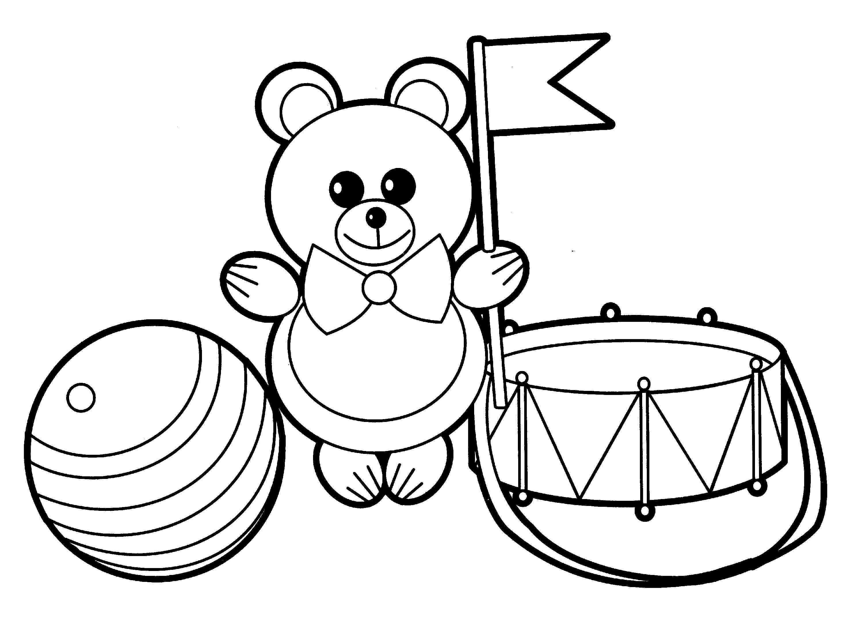 Раскраски игрушки для детей - 1